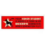 BOXER Dog World Domination! Bumper Sticker