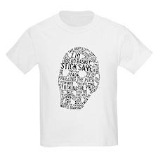 Vintage Hockey Goalie Typography Mask T-Shirt