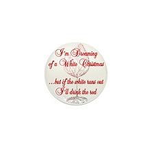 White Christmas Mini Button