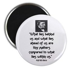 "EMERSON - WHAT LIES WITHIN US. 2.25"" Magnet (10 pa"