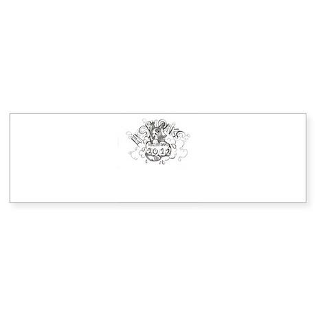 blackwhite winning logo 2012 Sticker (Bumper)