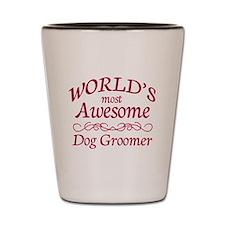 Dog Groomer Shot Glass