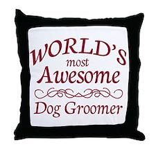 Dog Groomer Throw Pillow