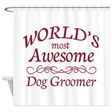 Dog Groomer Shower Curtain