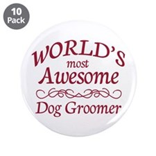 """Dog Groomer 3.5"""" Button (10 pack)"""