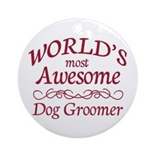 Dog Groomer Ornament (Round)