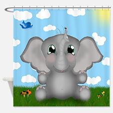 Elephant and Ladybug Shower Curtain