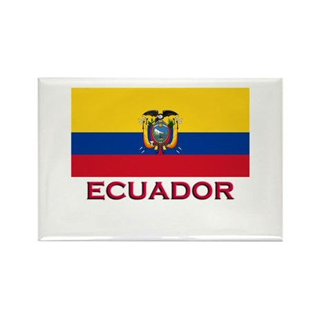 Ecuador Flag Stuff Rectangle Magnet