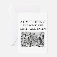 advertising Greeting Card