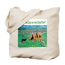 Day at Dog Park Tote Bag