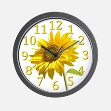 Cute Sunflower wall Wall Clock