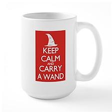Keep Calm and Carry a Wand Mugs