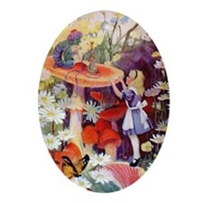 Alice Asks Advice From the Caterpi Ornament (Oval)