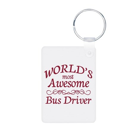 Awesome Bus Driver Aluminum Photo Keychain