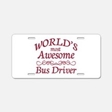 Awesome Bus Driver Aluminum License Plate