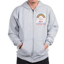 Cute Rainbow spectrum Zip Hoodie