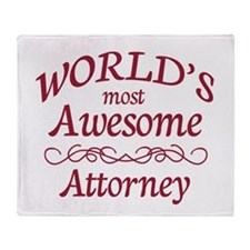 Awesome Attorney Throw Blanket