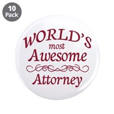 """Awesome Attorney 3.5"""" Button (10 pack)"""