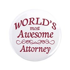 """Awesome Attorney 3.5"""" Button (100 pack)"""
