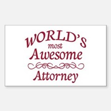 Awesome Attorney Decal