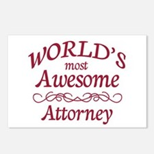 Awesome Attorney Postcards (Package of 8)