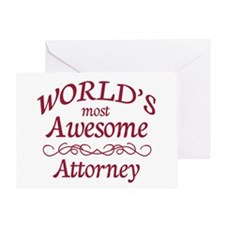Awesome Attorney Greeting Card