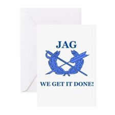 JAG WE GET IT DONE Greeting Cards (Pk of 10)