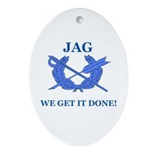 JAG WE GET IT DONE Oval Ornament