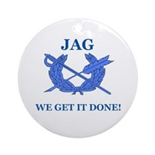 JAG WE GET IT DONE Ornament (Round)