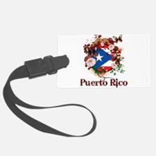 Butterfly Puerto Rico Luggage Tag