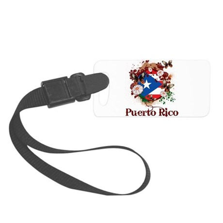 Butterfly Puerto Rico Small Luggage Tag