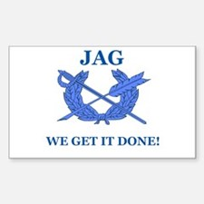 JAG WE GET IT DONE Rectangle Decal