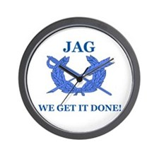 JAG WE GET IT DONE Wall Clock