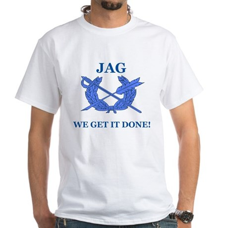 JAG WE GET IT DONE White T-Shirt