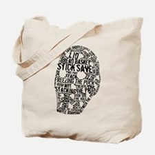 Vintage Hockey Goalie Typography Mask Tote Bag