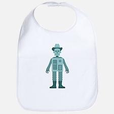 Cowboy Robot Bib