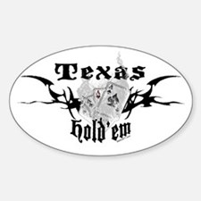 Smoking Aces Hold'em Oval Decal