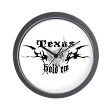 Smoking Aces Hold'em Wall Clock