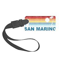 Retro Palm Tree San Marino Luggage Tag