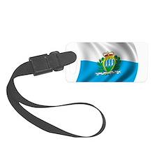 Wavy San Marino Flag Luggage Tag