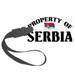 Property Of Serbia Large Luggage Tag