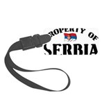 Property Of Serbia Small Luggage Tag