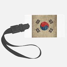 Vintage South Korea Flag Luggage Tag