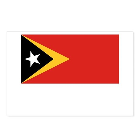 East Timor Flag Picture Postcards (Package of 8)