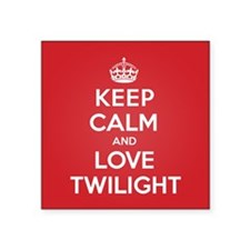 "K C Love Twilight Square Sticker 3"" x 3"""