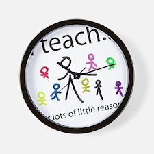 Cute Teach Wall Clock