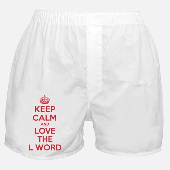 K C Love the L Word Boxer Shorts