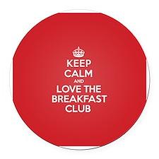 K C Love The Breakfast Club Round Car Magnet