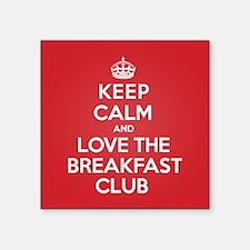 "K C Love The Breakfast Club Square Sticker 3"" x 3"""