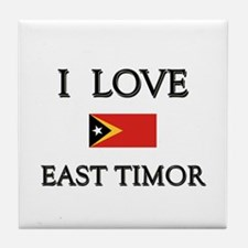 I Love East Timor Tile Coaster